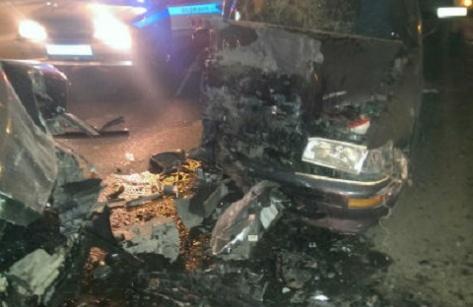 В Улан-Удэ при лобовом столкновении пострадало 4 человека (Фото)