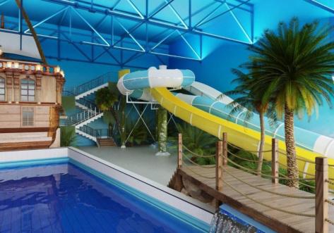 Дизайнерское решение будущего аквапарка фото: Фортуна Трейд
