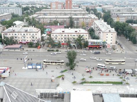 Вид города с высока