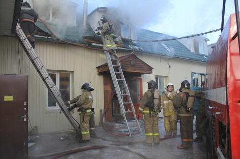 Крупный пожар произошел в центре Улан-Удэ