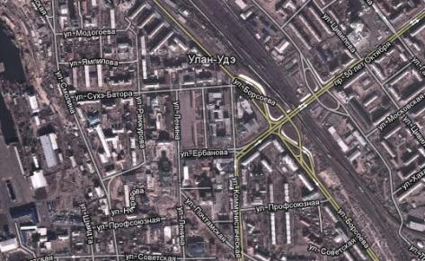 Google сделал детализированную карту Улан-Удэ