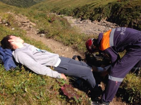 В Бурятии турист сорвался с 25-метровой высоты (ВИДЕО)