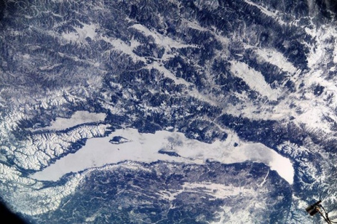 Озеро Байкал вновь попало в объектив космонавтов МКС