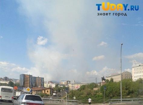В Улан-Удэ пожар на военном полигоне дотушить не удалось