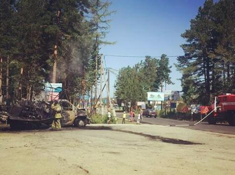 В Горячинске горел автомобиль в воскресенье