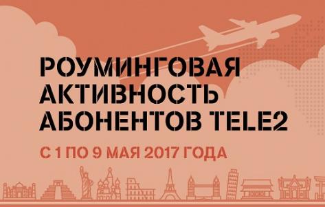Tele2 подвел итоги роуминговой активности абонентов за майские праздники