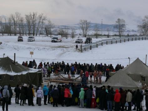 На Крещение в Бурятии искупались почти 11,5 тысяч человек