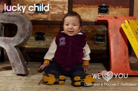 Приемный малыш из Бурятии стал героем марки детской одежды