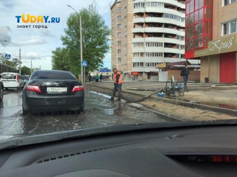 """В Улан-Удэ на Боевой вновь образовалось """"традиционное"""" озеро"""