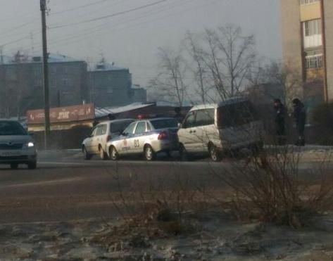 В Улан-Удэ в автомобиль ДПС врезался пьяный водитель