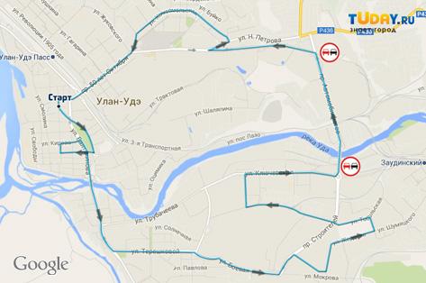 В Улан-Удэ будет изменено движение всего транспорта (КАРТА)