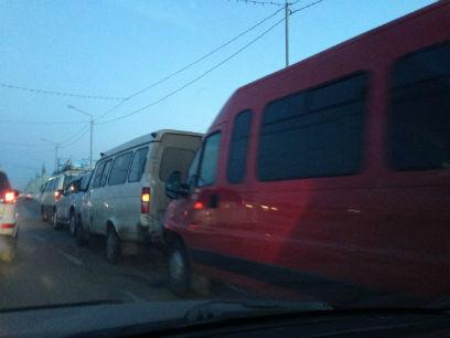 В Улан-Удэ авария с тремя маршрутками парализовала город