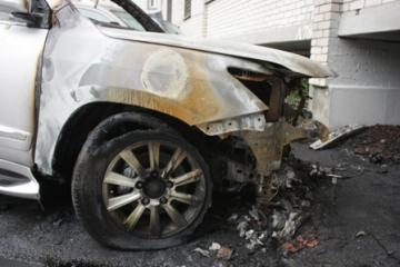 В Бурятии горел подожженный автомобиль