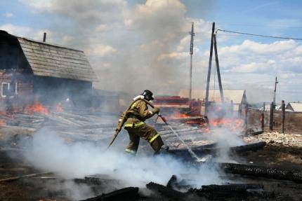 В Бурятии в пожаре сгорели 100 центнеров сена