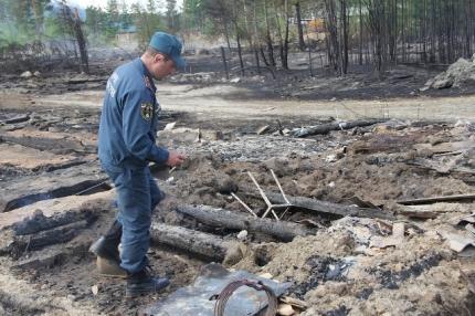 В Северомуйске в Бурятии на пепелище дома обнаружены останки мужчины