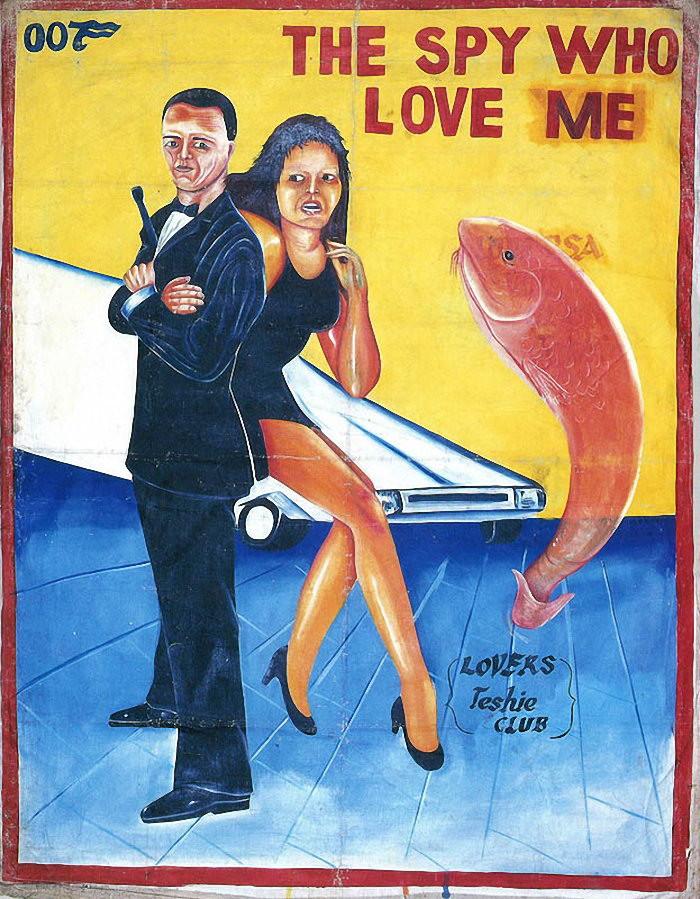 Розовый терминатор, толстый Том Круз и рыжий Морфеус из Матрицы: 14 фото самодельных постеров к известным фильмам в африканских кинотеатрах 80-90х