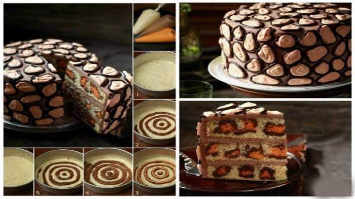 Леопардовый торт станет украшением вашего стола