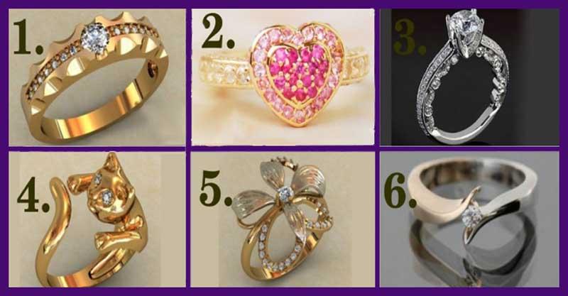 Выберите кольцо и узнайте, какие тайны скрывает ваш характер!