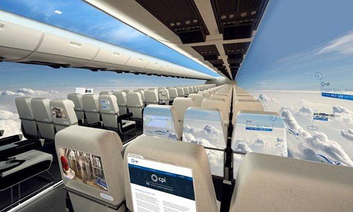 Создан самолет без окон! Пассажиры будут находиться как будто среди облаков!