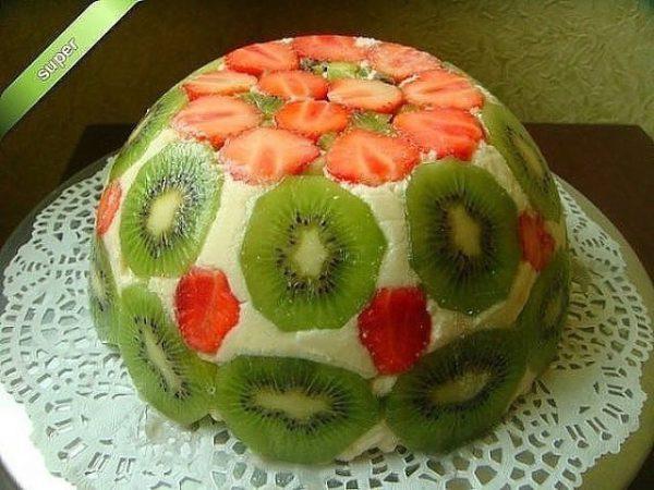 Очень вкусный и простой торт без выпечки. Настоящее произведение искусства!